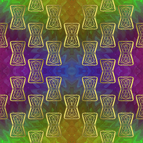 keyhole rainbow 2 fabric by y-knot_designs on Spoonflower - custom fabric