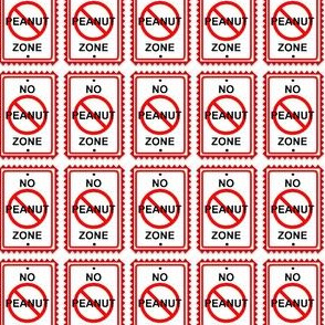 No Peanut Zone!