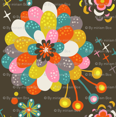 Year of the Snake coordinating fabric - dahlia
