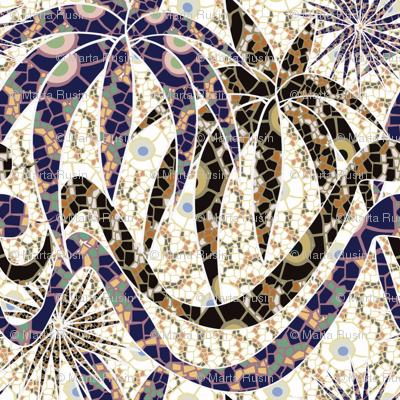 jungle snakes mosaic