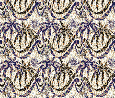 jungle snakes mosaic fabric by kociara on Spoonflower - custom fabric