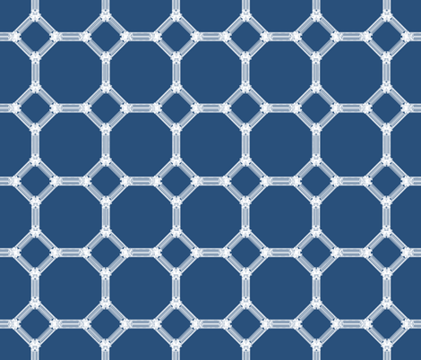Mosaic Moroccan in Royal Indigo Blue fabric by fridabarlow on Spoonflower - custom fabric