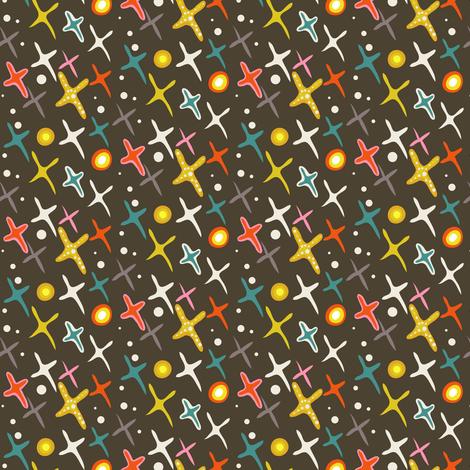 Year of the Snake coordinating fabric - stars fabric by irrimiri on Spoonflower - custom fabric