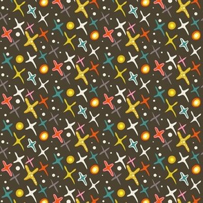 Year of the Snake coordinating fabric - stars