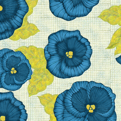 Pansy ( 4') fabric by kirpa on Spoonflower - custom fabric