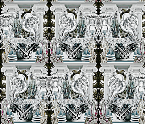 Mt. Olympus fabric by whimzwhirled on Spoonflower - custom fabric