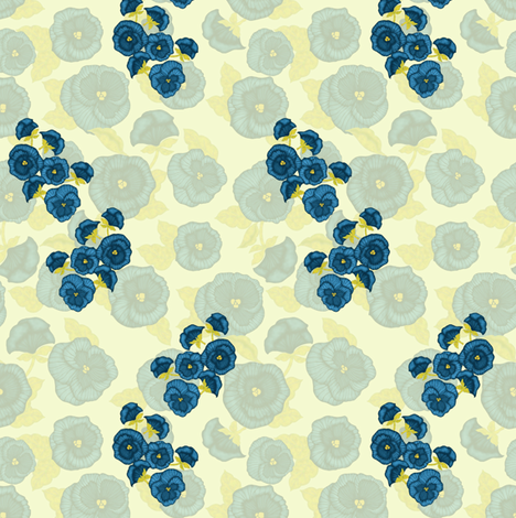 Pansy (transparent back) fabric by kirpa on Spoonflower - custom fabric