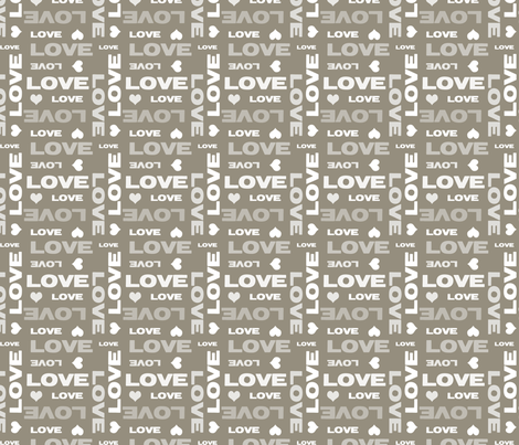 Brown Cocoa Love fabric by peacefuldreams on Spoonflower - custom fabric