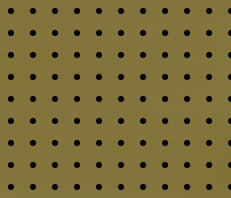 Gold and Black Polka Dots fabric by pencreations on Spoonflower - custom fabric