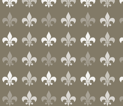 Brown Cocoa Fleur de lis fabric by peacefuldreams on Spoonflower - custom fabric