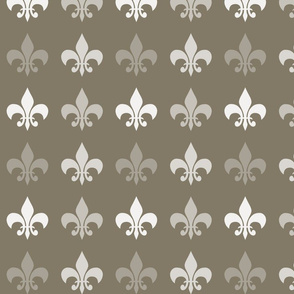 Brown Cocoa Fleur de lis