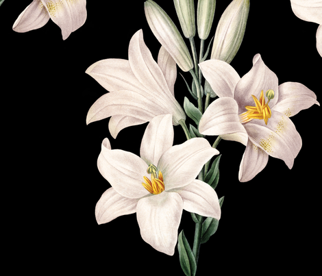 Lilies Patchwork fabric by peacefuldreams on Spoonflower - custom fabric