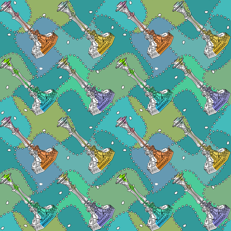 candlesticks fabric by glimmericks on Spoonflower - custom fabric