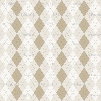 Brown Cocoa and Cream Argyle