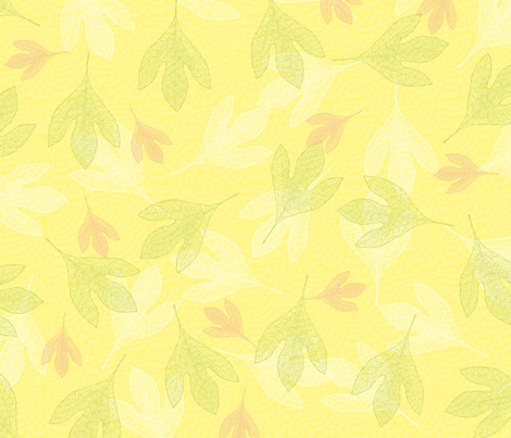 Falling Leaves fabric by peacefuldreams on Spoonflower - custom fabric