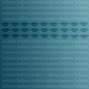 Teal Believe Butterflies