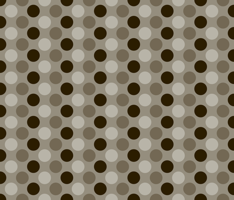 Brown Cocoa Dots fabric by peacefuldreams on Spoonflower - custom fabric