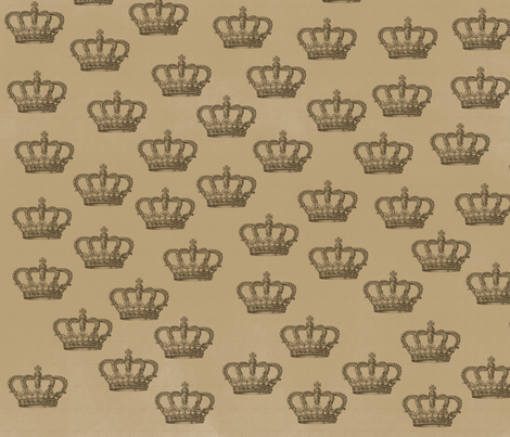 Vintage Crowns fabric by peacefuldreams on Spoonflower - custom fabric