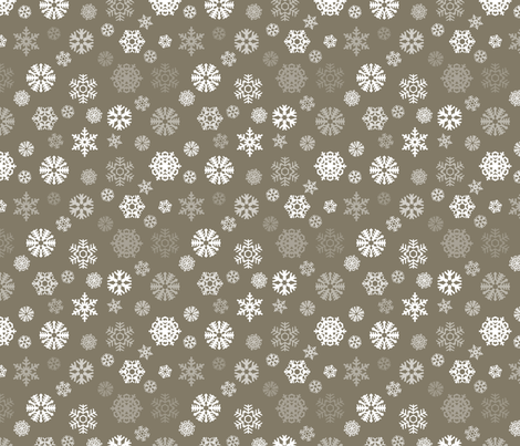 Brown Cocoa and Cream Snowflakes fabric by peacefuldreams on Spoonflower - custom fabric