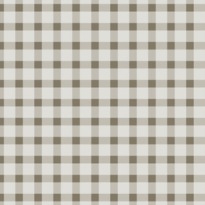 Brown and Cream Gingham