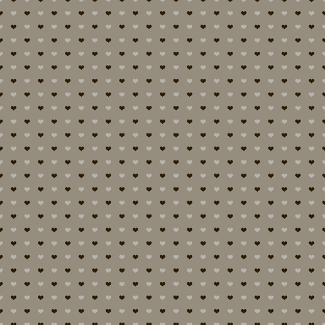Little Brown Cocoa Hearts fabric by peacefuldreams on Spoonflower - custom fabric