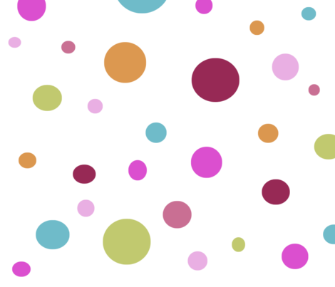 Whimsical Multi Color Dots fabric by peacefuldreams on Spoonflower - custom fabric