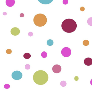 Whimsical Multi Color Dots