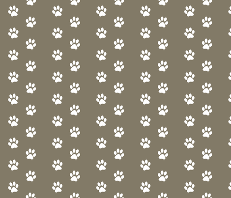 Brown Cocoa Paw Print fabric by pencreations on Spoonflower - custom fabric