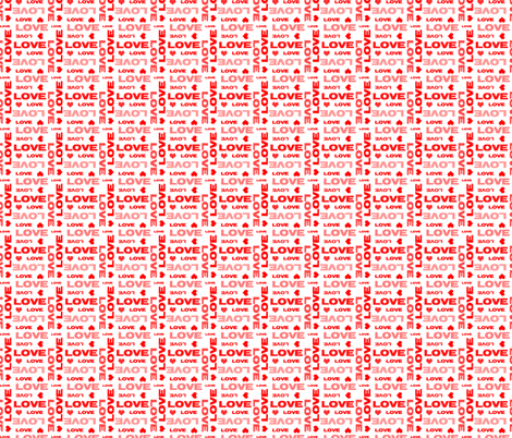 Red Love and Hearts fabric by peacefuldreams on Spoonflower - custom fabric