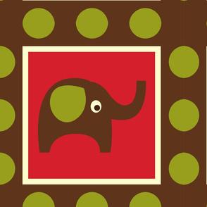 Cute Brown Elephants