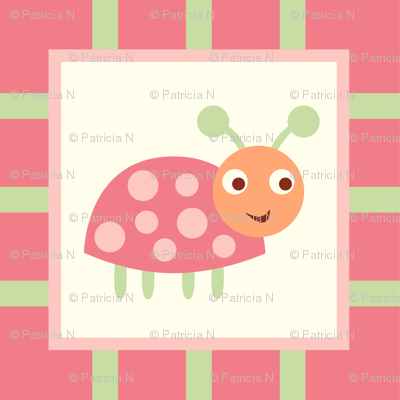 Whimsical Pink Ladybugs