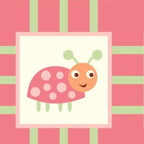 Whimsical Pink Ladybugs