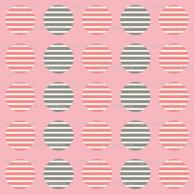 Pink Striped Circles