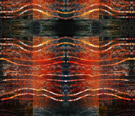 Fire in lines fabric by ekeskleurdesign on Spoonflower - custom fabric