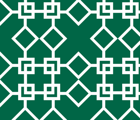 Climb the Trellis Malachite fabric by honey&fitz on Spoonflower - custom fabric