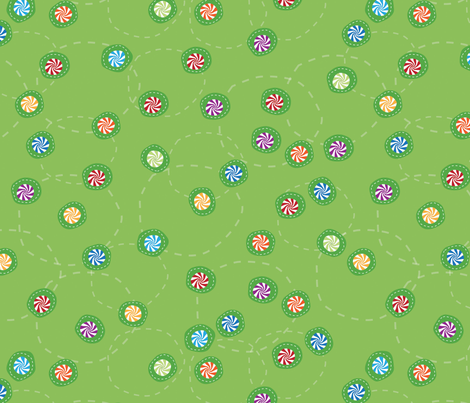 candy_lime fabric by sally_stetson_design on Spoonflower - custom fabric