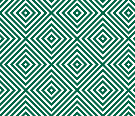 Diamonds Malachite fabric by honey&fitz on Spoonflower - custom fabric
