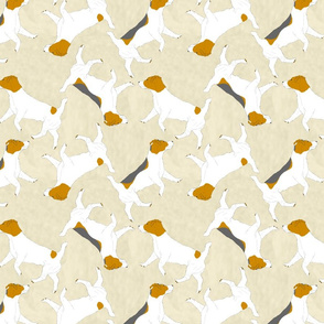 Trotting Russel Terriers - tan