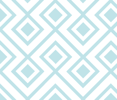 Connect the Blocks Aqua fabric by honey&fitz on Spoonflower - custom fabric