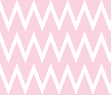 Tall Chevron Blossom fabric by honey&fitz on Spoonflower - custom fabric