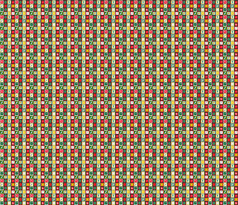Base carrés de Noël 1 fabric by manureva on Spoonflower - custom fabric