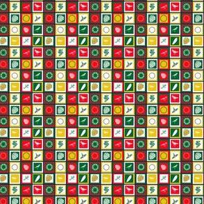 Base carrés de Noël 1