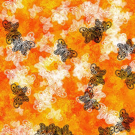 Butterfly Fire fabric by siya on Spoonflower - custom fabric