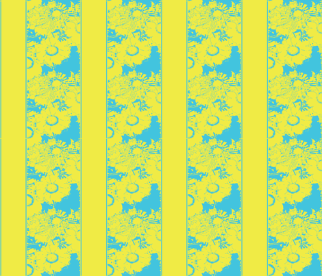 Daisy stripes, yellow fabric by nalo_hopkinson on Spoonflower - custom fabric