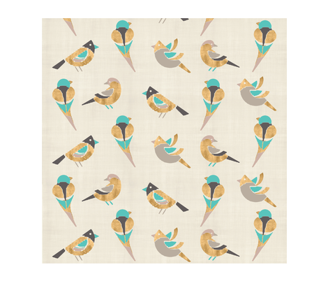 birdie-in-the-air fabric by firki on Spoonflower - custom fabric