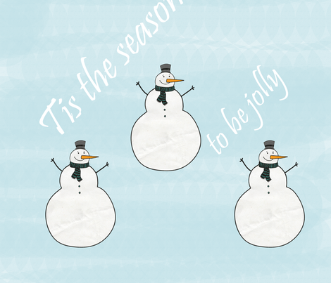 Jolly Snowmen fabric by peacefuldreams on Spoonflower - custom fabric