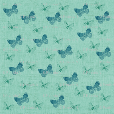 Textured Blue Butterflies