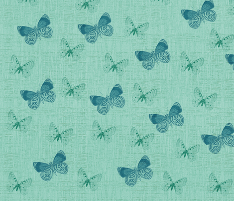Textured Blue Butterflies fabric by peacefuldreams on Spoonflower - custom fabric