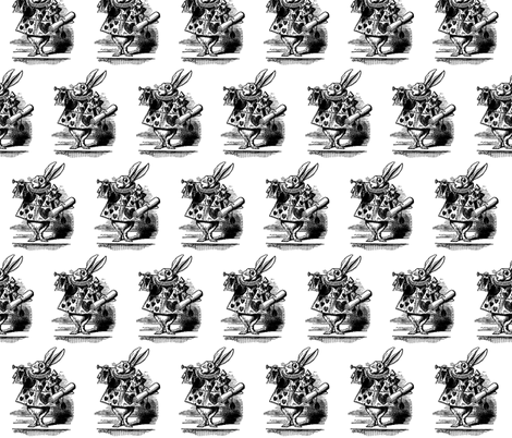 Vintage White Rabbit fabric by pencreations on Spoonflower - custom fabric