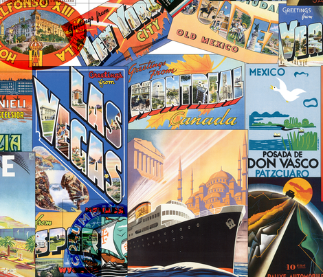 Travel the World fabric by peacefuldreams on Spoonflower - custom fabric